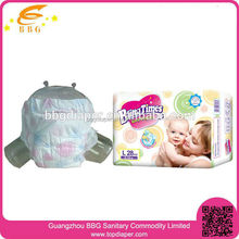 New package Bling times cloth like disposable baby diapers in bales