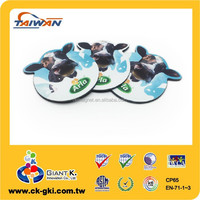 Advertising giveaways cow picture cheap fridge magnets
