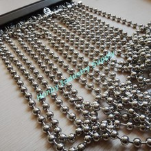 China Decorative silver metal beads curtains