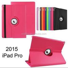 360 Degree Rotation PU Leather Case For iPad Pro