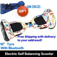 Warehouse in the USA 10 inch Free Shipping wheel balancing electric skateboard
