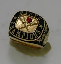 Gold Championship baseball rings for baseball players