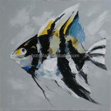 2015 hot sale wholesale handmade Fish oil painting
