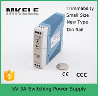 MDR-15-5 switching led power suply 15w din-rail swtiching power supply with pcf