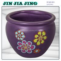 purple elegant ceramic flower pots 2015