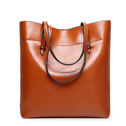Hottest Sale Oil Wax European American Shopping Leather Tote Handbag (XJHB806)