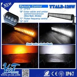 Y&T dot approved led light bar, wireless remote control light bar for vehicle, atv, utv YTALB120