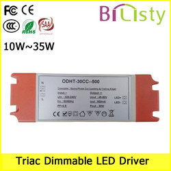 30w Single output Triac Dimmable Led driver CC and CV.5-100% dimming