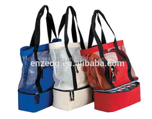 Fashionable Beach Picnic Outdoor Mesh Cooler Bag