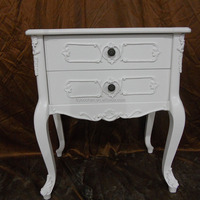 Antique white wooden cabinet antique stamp theme living room furniture