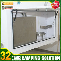 utility camper trailer with tailgate kitchen