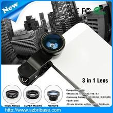 Cheap price Fisheye lens Universal Clip for smart phone 3-in-1 180 degress Fisheye Lens