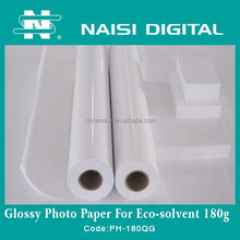 Wholesale A4 High Glossy Inkjet Photo Paper 180gsm for ECO Solvent