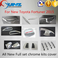 New Arrival Exterior Accessories 2015 suv 4x4 fortuner Chromed kits Cover For Toyota Fortuner 2015