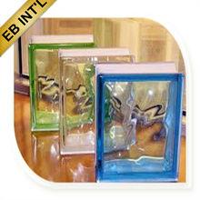 190x190x80mm bloques de vidrio decorativo al por mayor con el ce& iso9001