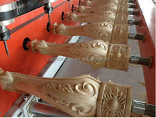 Hot sale !!! Chinia 3d 5 axis 10 rotary wooden legs cnc router/furniture legs drilling cnc machine