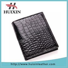 Guangzhou customized made wallet genuine crocodile leather wallet
