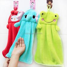 flannel hanging cartoon decorative hand towels