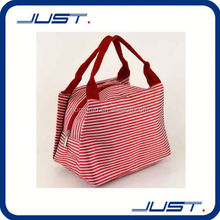 Customized organic shoulder thermal bag with mesh pocket