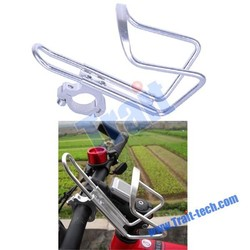 2015 Alibaba Hot sales Bike Bicycle Handlebar Silver Aluminum Alloy Water Bottle Holder Cages with Adapter