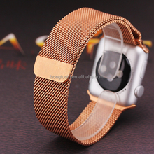 Silver Milanese Loop Metal Band & Stainless Steel Clasp Strap For Apple Watch 42mm 38mm Watchband