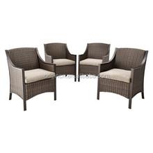 American modern design with cushions aluminium frame wicker patio dining chair