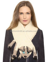 Bright Rhinestone Stereo Cat Knit Scarf For Women