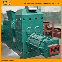 Small used automatic solid hollow block molding machine clay brick vacuum extruder