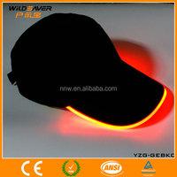 optical fiber led flashing china cap with custom logo wholesale