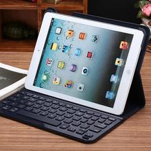 for ipad air bluetooth keyboard stand leather case