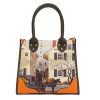 New fashion printed tote retro personality handbag