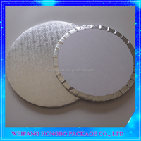 high quality silver film coated corrugated cheap cake boards