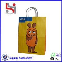 Dongguan factory Haiying oem eco packaging carry tote paper bag paper bag