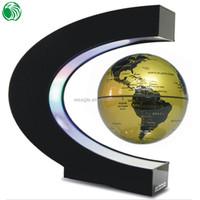 High end gift C shape base 3 inch floating globe clear plastic gift wrap