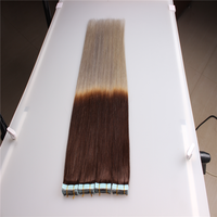 Bust glue seamless pu tape hair virgon remy human hair