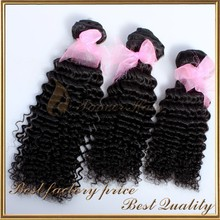 Extremely Easy To Care For Natural Black Color Indian Deep Wave Wholesale Hair Weave
