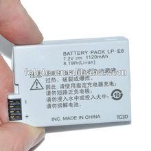 For Canon EOS 550D 650D Rebel T2i LP-E8 LPE8 LP E8 digital camera battery