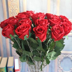GNW FL-RS70-8 fake rose wholesale with good quality for wedding decoration