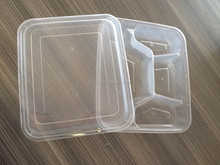 1000cc four compartment divided plastic food container