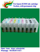 Empty T1571-T1579 refill ink cartridge for Epson stylus photo R3000 printer