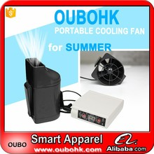 Portable fan Newest summer cooling mini fan used in clothes with 4400mAh battery 4 grades adjustable temperature OUBOHK