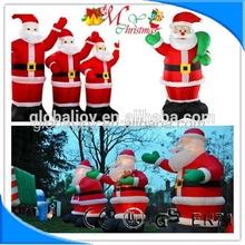Hot selling Inflatable Christmas santa claus/santa claus decoration