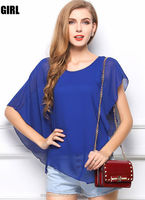 Instyles new tops ladies Irregular woman chiffon women blouse boutique clothing Clothing