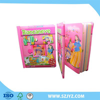 Fairy tale child book with puzzle