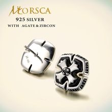 Morsca lovely design sterling 925 silver earring with agate zircon