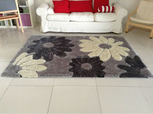 cheap pattern polyester silk rug from chinese manufactory