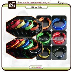 Glow Castle Round Electronic Flash Dog Collar