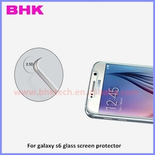 9H anti-explosion 2.5D curved edge holographic screen protector for galaxy s6 ,glass screen protector