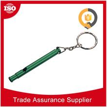 Professional manufacturer customized logo long metal key finder alarm whistle