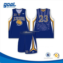 Good quality team sublimation basketball wear uniform